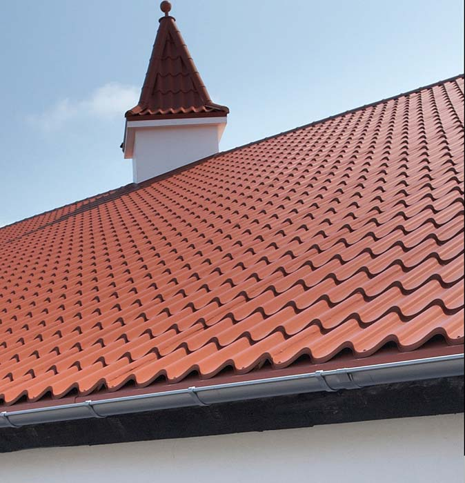 cserepeslemez tető